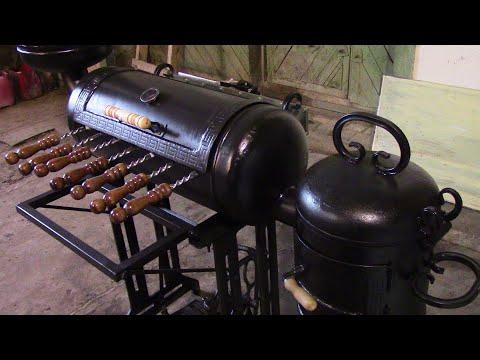 Мангал , коптилка , печь , с механическим приводом