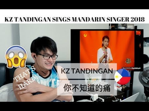 [REACTION] She RANKED 6th | KZ TANDINGAN sings MANDARIN SONG 你不知道的痛 | SINGER 2018 | #JANGReacts