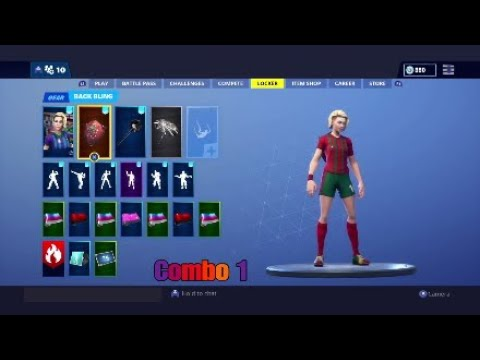 Best Combos For The Finesse Finisher Soccer Skin Fortnite Youtube