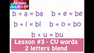 Lesson #3 - Two Letter blends | Step by step Learning to Read Phonetically