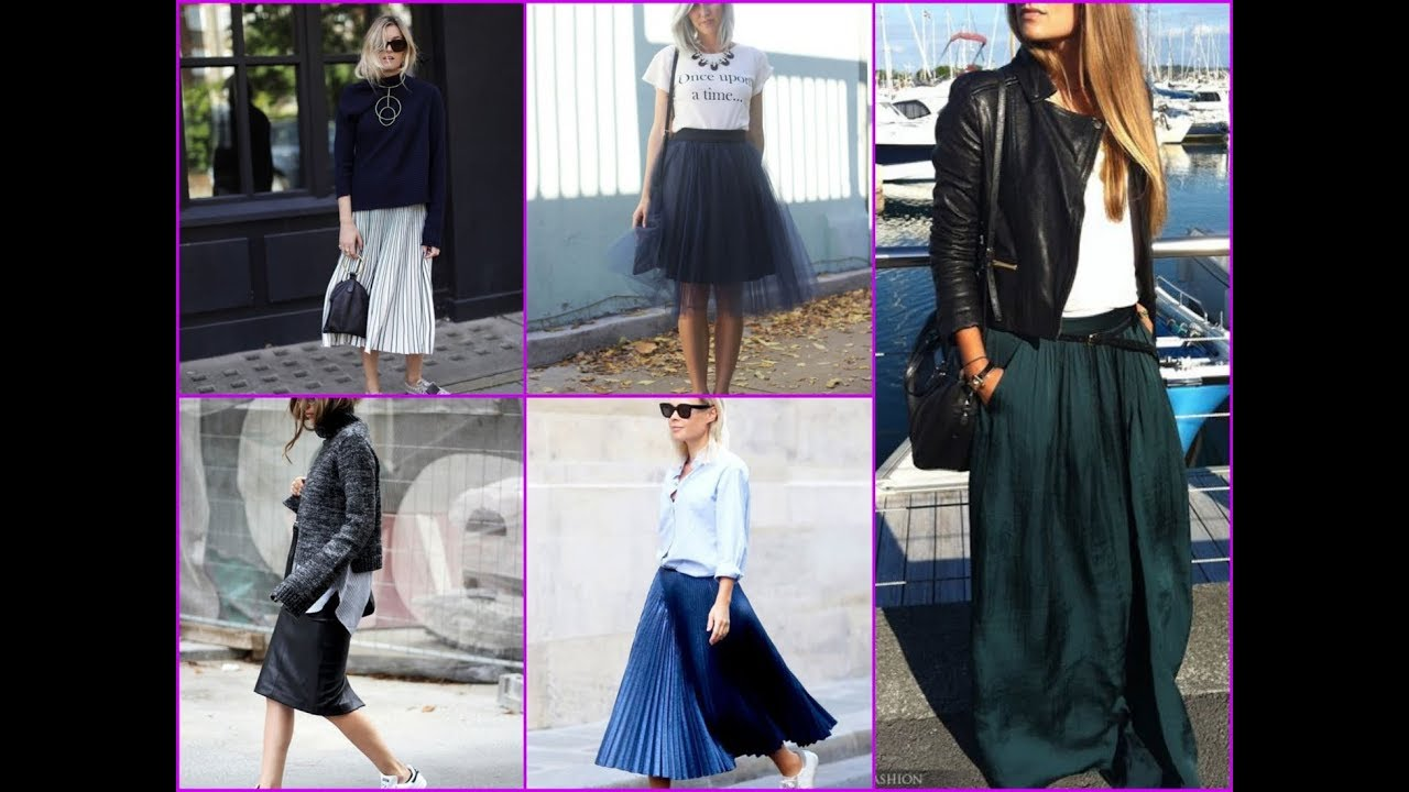 9f8c1f9626e 30 Trendy Outfit Ideas with Skirt for Spring\Summer 2018 - YouTube