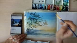 Как рисовать листву деревьев акварелью.(В этом видео я демонстрирую один из простых способов изображения листвы. Рассказываю о материалах для этог..., 2017-01-11T04:47:28.000Z)
