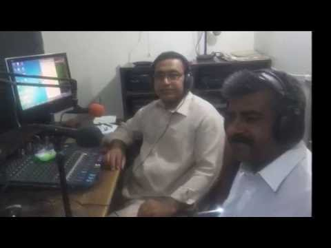 Munawar Abro, Cartoonist, Artist & Poet Of Sindh @ Hot FM 105 Larkano.