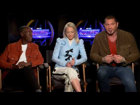 Fun with Dave Bautista, Don, Cheadle, Pom Klementieff Avengers Infinity War full
