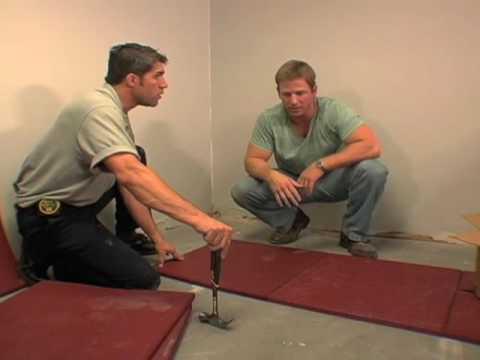 "DIY""s ""Man Caves Four Alarm Gym"" Starring Rubber-Cal's Eco-Sport Tiles."