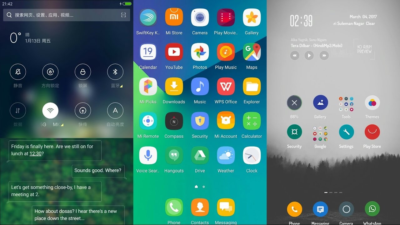 Best Top 10 MiUi 8 themes 2017  (March) fully featured themes