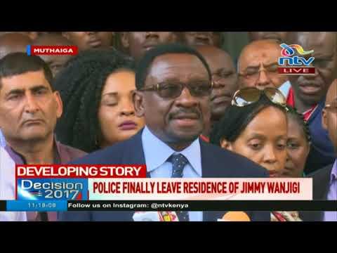 Police leave Jimi Wanjigi's residence after 72 hours siege - Lawayer James Orengo's statement