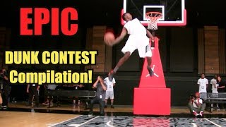 EPIC Slam Dunk Contest Compilation! BEST Dunkademics Dunks!