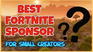#1 Sponsor For Fortnite Youtubers/streamers | Earn Money From Fortnite