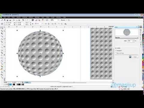 Belajar Corel Draw X6 Cara Membuat Bola Golf - YouTube