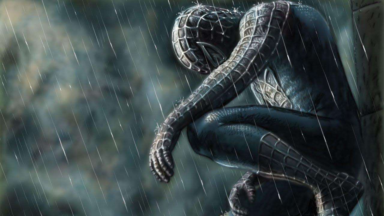 Schwarzer Spiderman