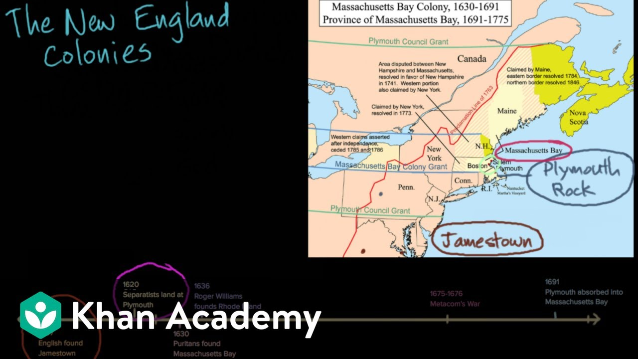 hight resolution of New England colonies: society and religion (video)   Khan Academy