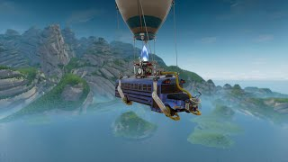 Mega crass bug in Fortnite 😱 (fly over the sea with BattleBus 😵)
