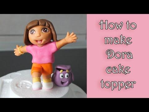 How To Make Fondant Dora Tutorial Jak Zrobic Dziewczynke Dore Z Masy Cukrowej