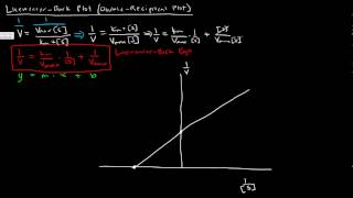 Enzymes (Part 3 of 5) - Lineweaver Burk Plot - Double Reciprocal Plot