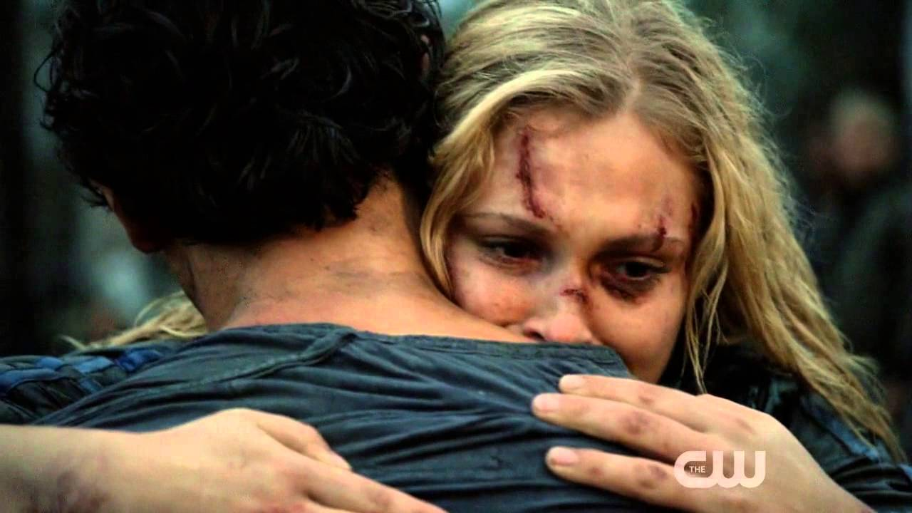the 100 bellamy and clarke reunion scene 2x05 youtube. Black Bedroom Furniture Sets. Home Design Ideas