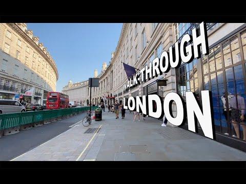 LONDON Walk 🇬🇧 - Oxford Street, Regent Street, Piccadilly Circus, Leicester Sq & Soho - 4k