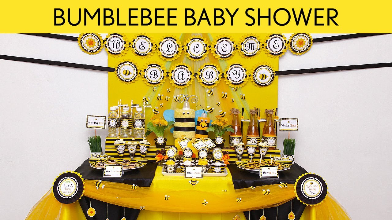 Bumblebee Baby Shower Party Ideas S17 YouTube