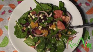 Black Bean And Spinach Salad