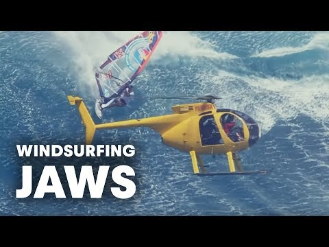 Windsurfing Jaws - The mother of all waves with Jason Polakow