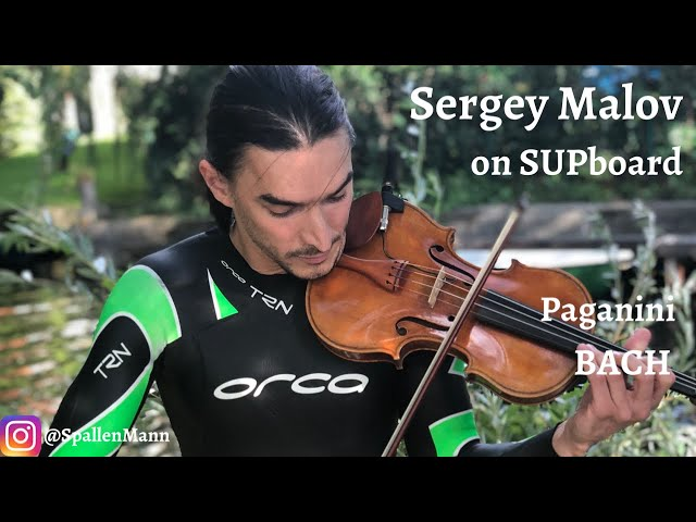 Sergey Malov plays Paganini and Bach on SUP board