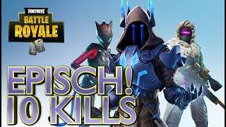 Epischer Solo Sieg 10 Kills! FORTNITE BATTLE ROYALE German