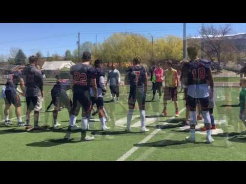 The kids with the Snow College Badgers Football Team 2017