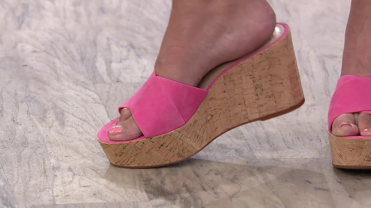 39310b5e83d Vince Camuto Cross Band Wedges - Kessina on QVC - YouTube