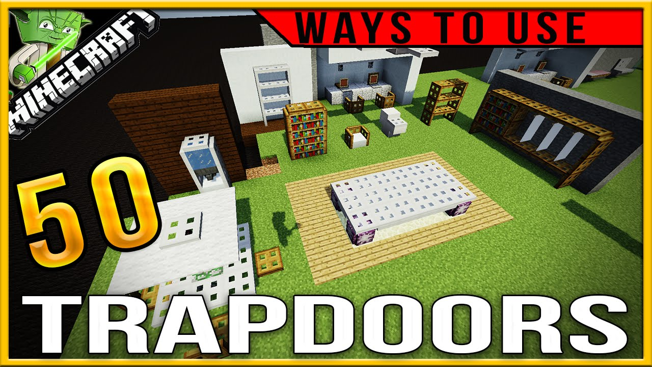 Minecraft Creative Tips Tricks: 50 Creative Ways To Use Trapdoors In Minecraft (PC/console