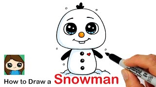 How to Draw an Olaf Snowman | Disney Frozen
