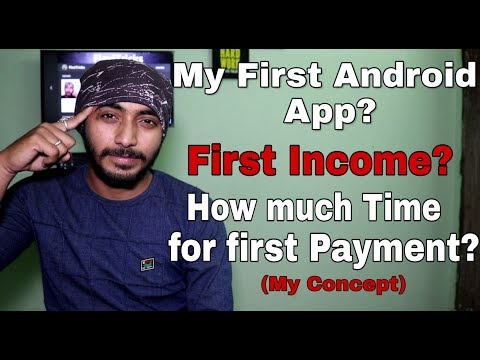 What Was My First Android App On Play Store? L My First Income L How Much Time Taken? L Hindi