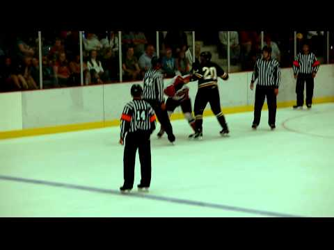 Cape Breton Eagles vs Moncton Wildcats Fight Aug 26, 2011