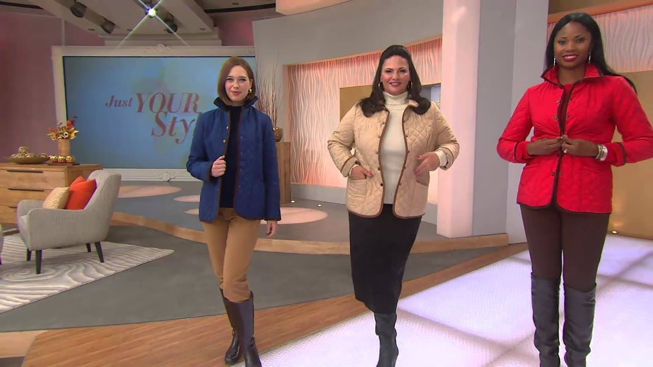 Joan Rivers Quilted Barn Jacket With Corduroy Detail With Gabrielle