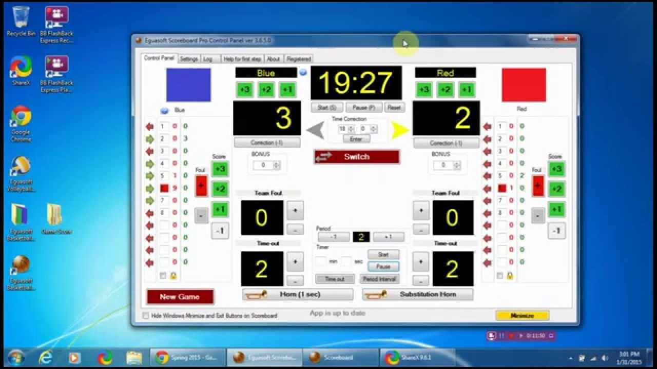 Eguasoft Basketball Scoreboard Pro Tutorial - YouTube
