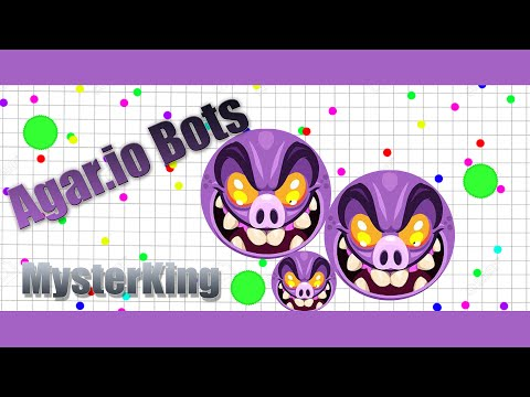 Agario new skin and Alone server with bots(one bots test)
