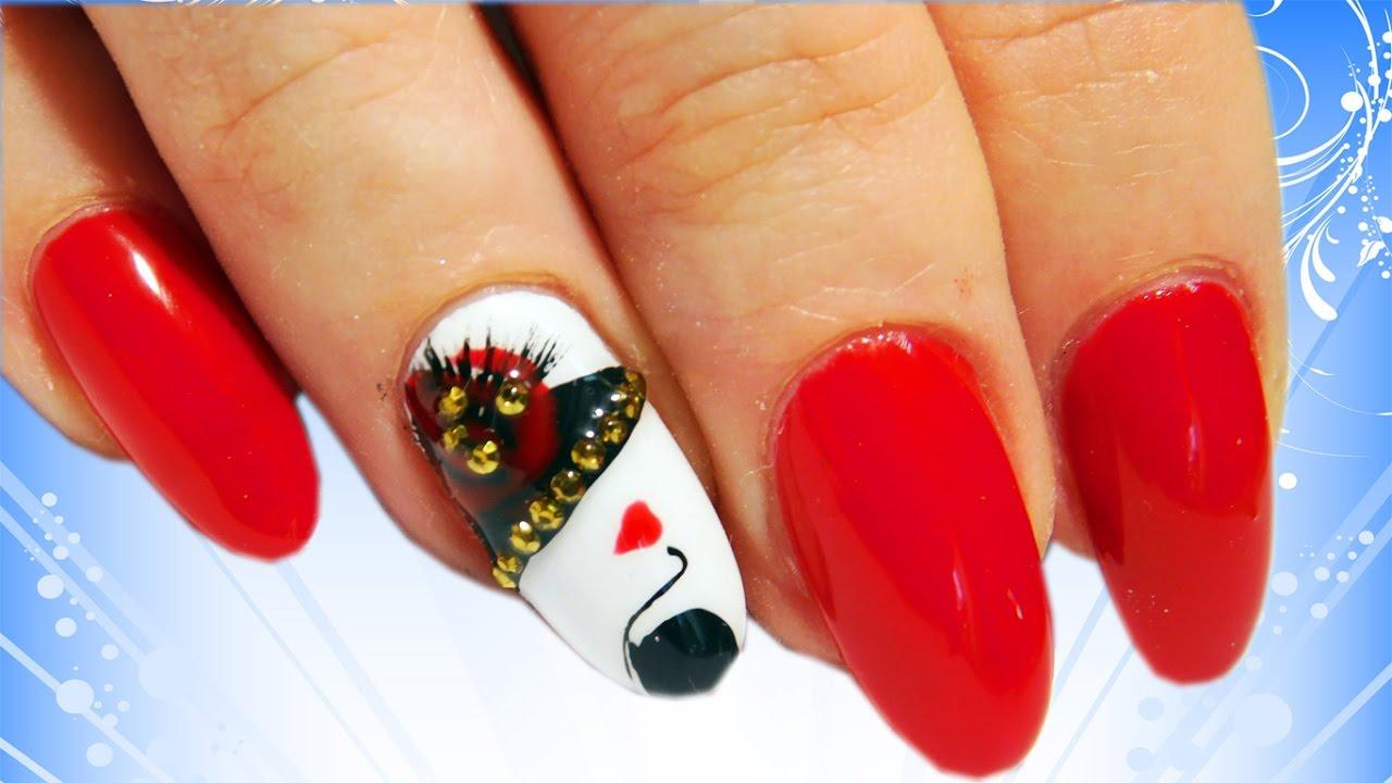 Девушка в Шляпе Топ Удивительные Дизайн Ногтей Nail Art Design|Арт Дизайн Девушки