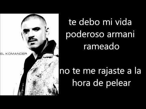 El Komander - Cuernito Armani Letra Lyrics