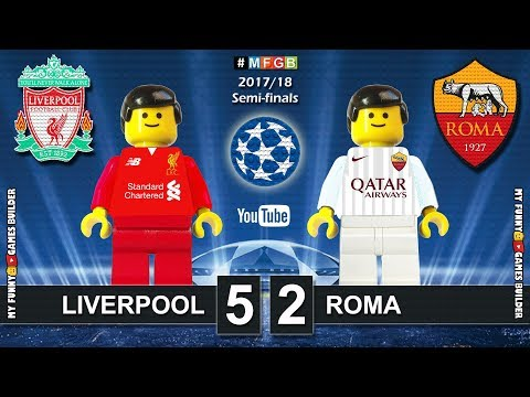 Liverpool vs Roma 5-2 • Semi-final Champions League 2018 (24/04/2018) Goals Highlights Lego Football