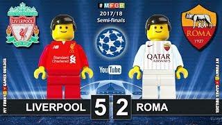 Liverpool vs Roma 5-2 • Semi-finals Champions League 2018 (24/04) Goals Highlights Lego Football