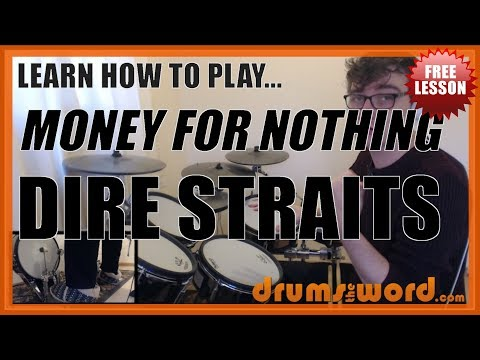 ★ Money For Nothing (Dire Straits) ★ FREE Video Drum Lesson | How To Play SOLO (Terry Williams)