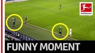 2 Balls in Play Funny Throw In Fail at Wolfsburg
