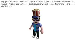 50 Roblox Users Contest also adding others