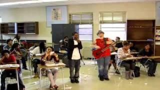music video shoot at laurel high