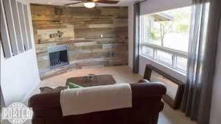 Time Lapse Of A Porter Barn Wood Mantle And Wood Wall Covering Install