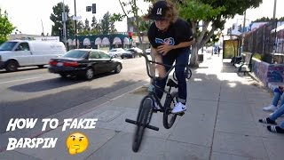 how to fakie barspin with stevie churchill mikey tyra
