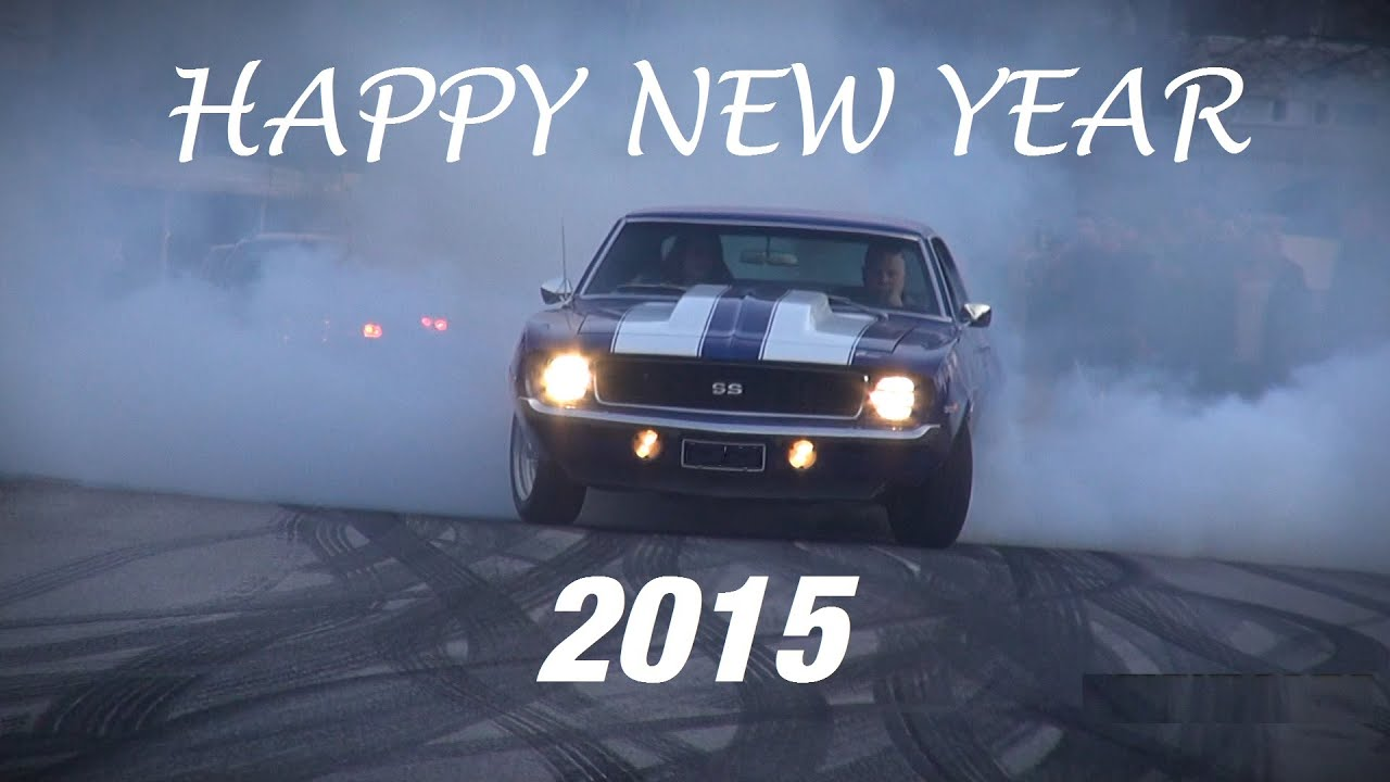 Supercars Muscle Cars Wish A Happy New Year 2015 Youtube