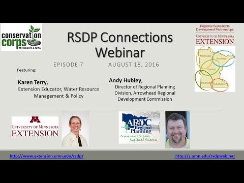 RSDP Connections Webinar 7 - UMN Extension Water Resources Team & Cook County Trails Plan
