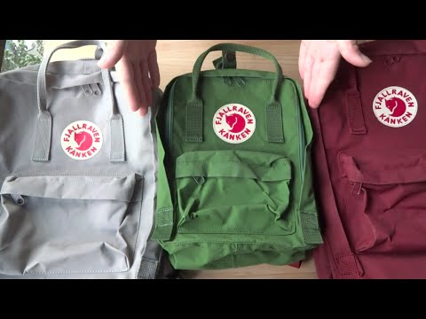 Fjallraven Kanken Classic, Mini And Laptop 15 Backpack Comparison | Tekuben.com