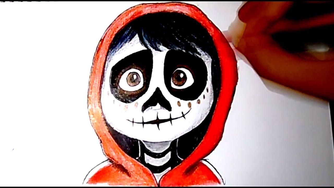 Miguel Coco Para Colorear: Dibujando A Miguel (Coco Disney Pixar)
