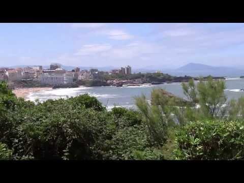 Biarritz bis zur spanischen Grenze
